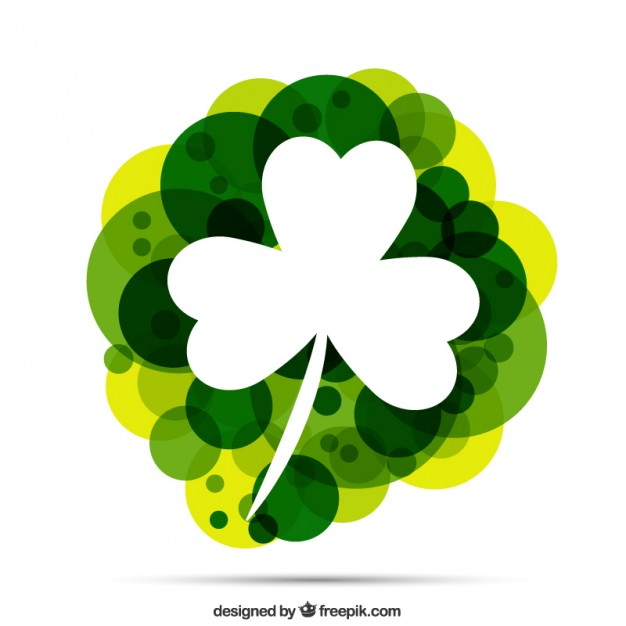 626x626 Abstract Shamrock Vector Free Download