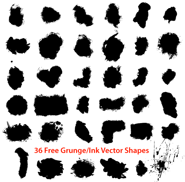 600x590 Free Free Grunge Ink Draw Shapes Psd Files, Vectors Amp Graphics