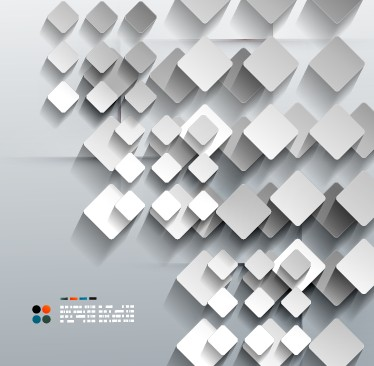 374x366 White Geometric Shapes Vector Background 04 Free Download