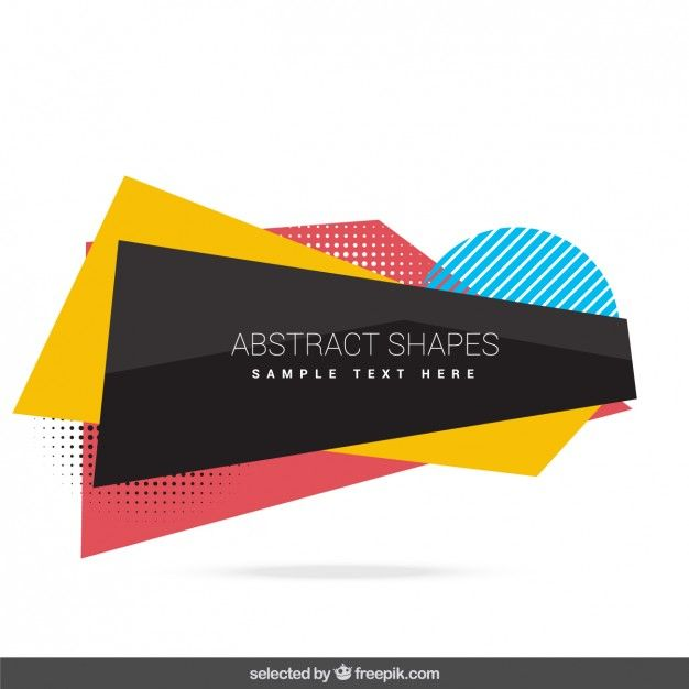 626x626 Abstract Shapes Collection Free Vector Lower Thirds