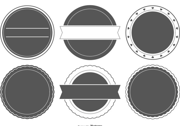 632x443 Blank Badge Shapes Free Vector Download 404221 Cannypic