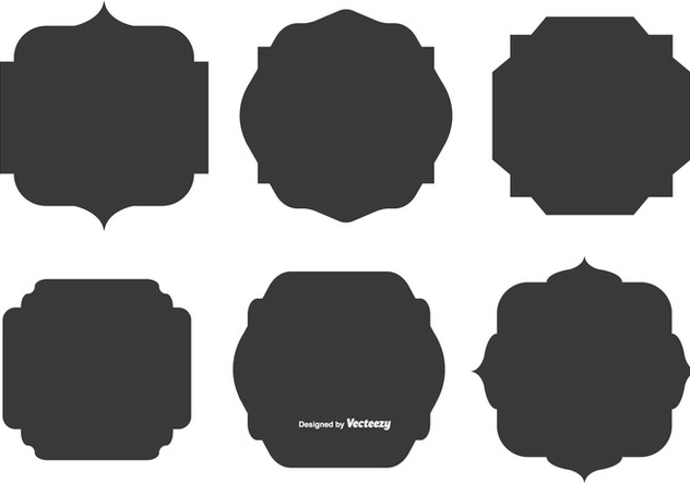 632x443 Blank Vector Label Shapes Free Vector Download 374467 Cannypic
