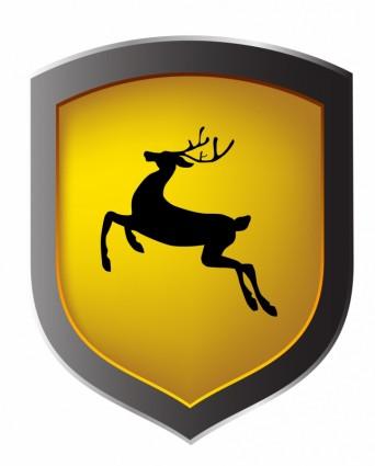 342x425 Deer Shield Vector Misc Free Vector Free Download