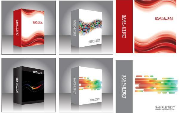 600x380 Free Vector Software Product Box Templates