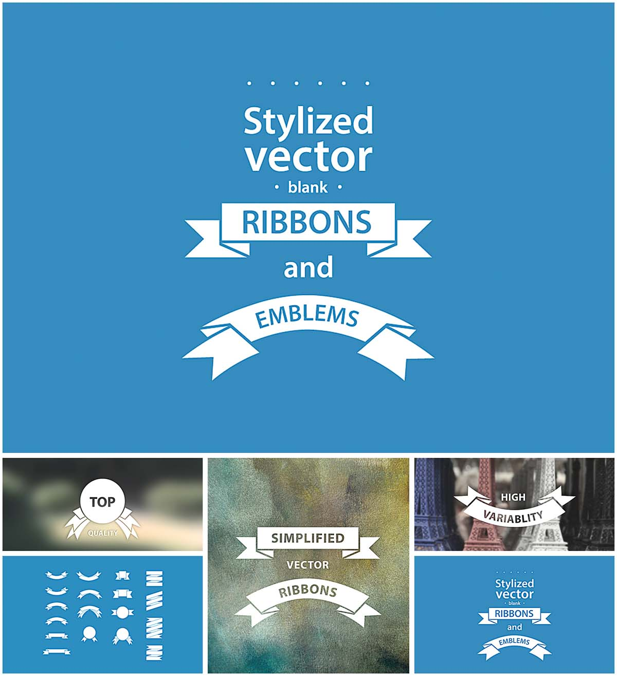1200x1314 Simple Vector Hand Drawn Ribbons Free Download