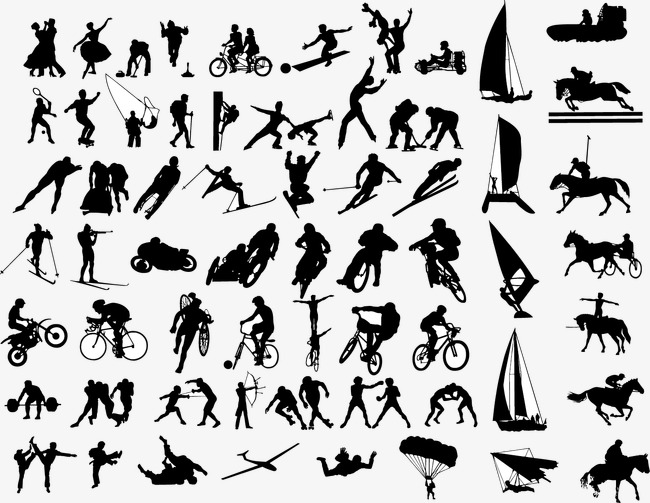 650x503 Sports Action Silhouette Vector, Sports Action, Sports Figures