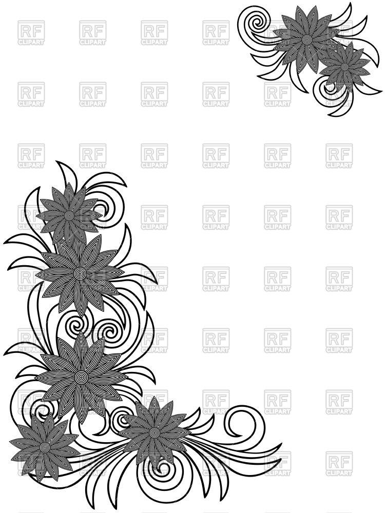 750x1000 Floral Stencils On White Background