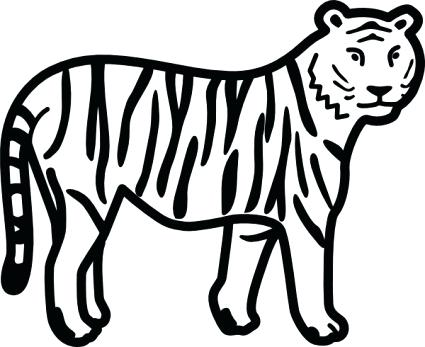 425x347 Free Download Of Tiger Stripe Stencil Vector Graphics And