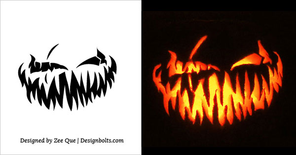 600x314 10 Free Scary Halloween Pumpkin Carving Patterns Stencils