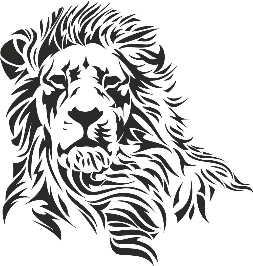 1000x1053 Lion Stencil Vector Free Vector Download