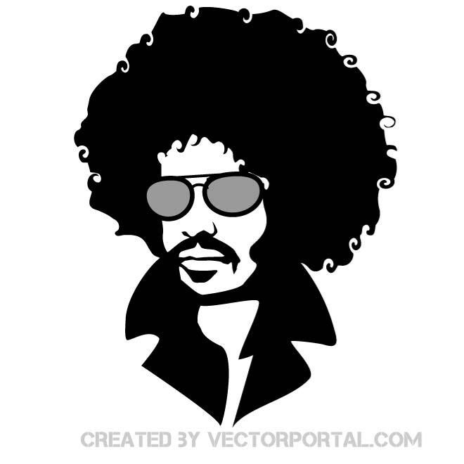 660x660 Man With Afro Hair Free Vector 123freevectors