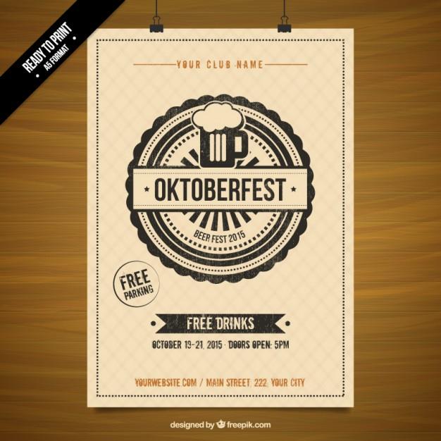 626x626 Oktoberfest Stencil Poster Vector Free Download