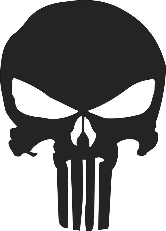 577x800 Punisher Skull Stencil Vector Free Vector Download