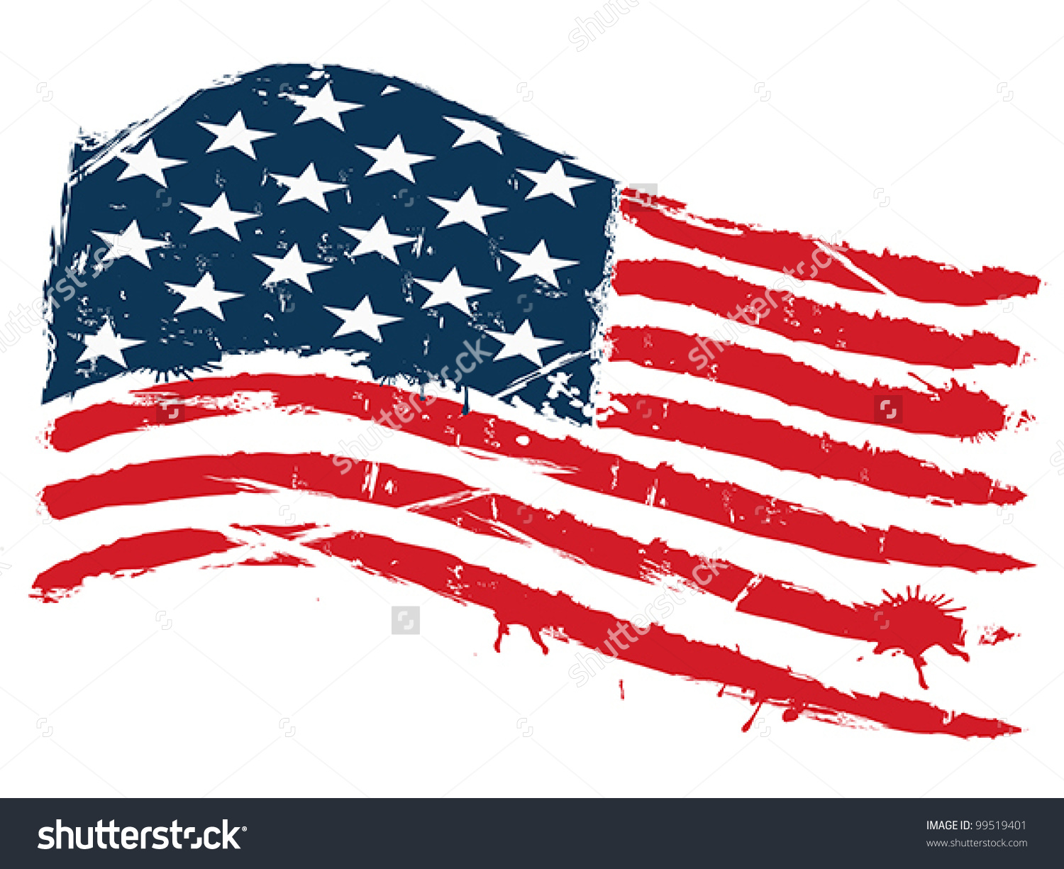 1500x1225 Grunge American Flag Vertical Free Clipart Collection