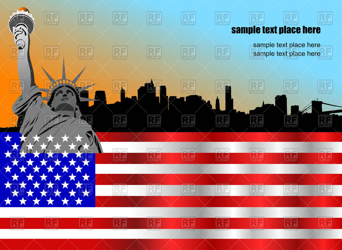 1200x877 Independence Day Background With Statue Of Liberty Us Flag And Ny