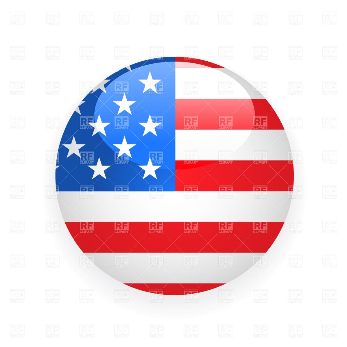 1200x1200 Usa Button Flag Vector Image Vector Artwork Of Signs, Symbols