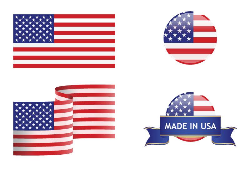 800x543 United States Flag Background Vector Dragonartz Designs (We