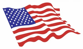 338x200 Waving Us Flag Vector Library Library