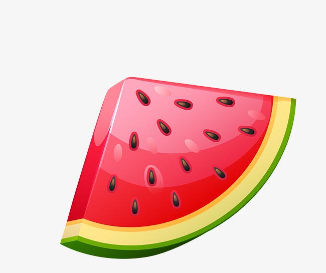 650x545 Vector Red Realistic Fruit Watermelon, Fruit Vector, Vector