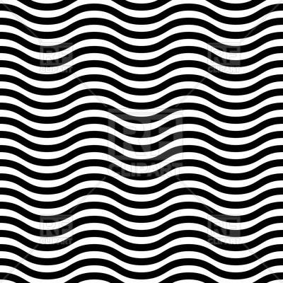 400x400 Geometric Seamless Pattern With Black And White Wavy Lines Vector