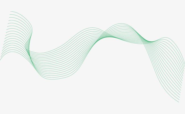 650x400 Green Wavy Wire Lines Cartoon, Cartoon Lines, Vector Wavy Lines