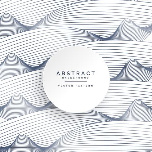 490x490 Stylish White Background With Abstract Wavy Lines
