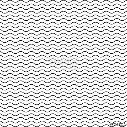 500x500 Black Seamless Wavy Line Pattern Stock Image And Royalty Free
