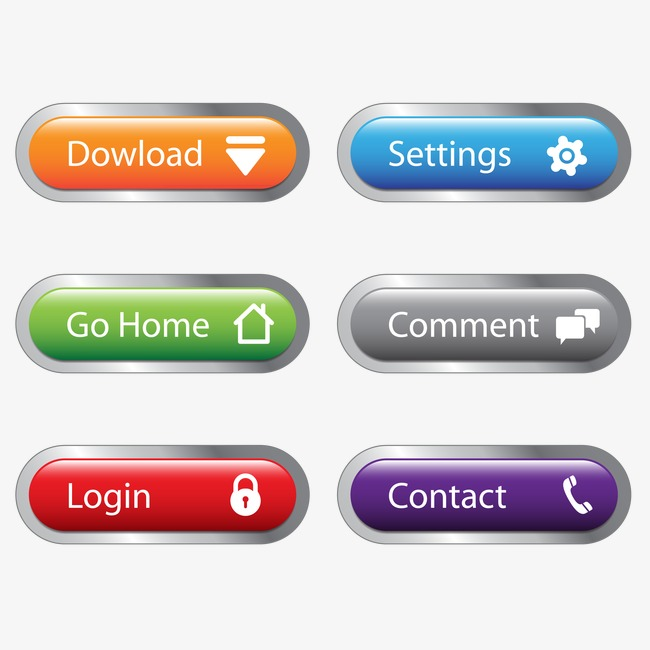 650x650 Vector Web Buttons, Web Buttons, Web Material, Icon Png And Vector