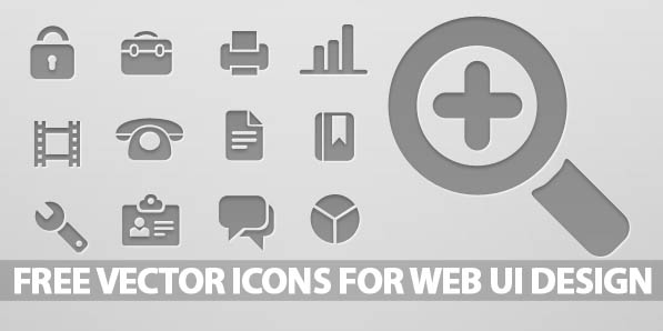 597x298 Free Vector Icons For Web Ui Design Icons Graphic Design Junction