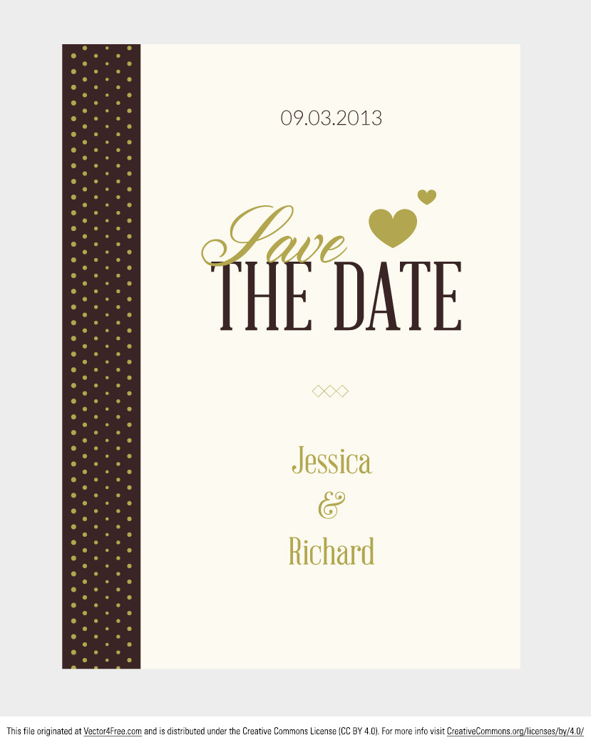 829x1045 Free Vector Wedding Invitation