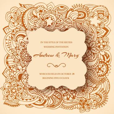 368x368 Vector Wedding Invitation Ornament Free Vector Download (15,020