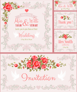 308x368 Wedding Card Vector Free Vector Download (13,347 Free Vector) For