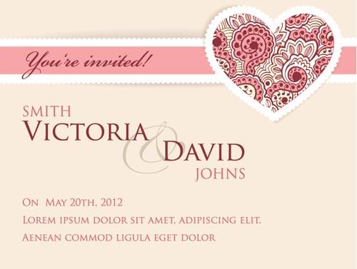 500x377 Wedding Invitation Cards Vectors