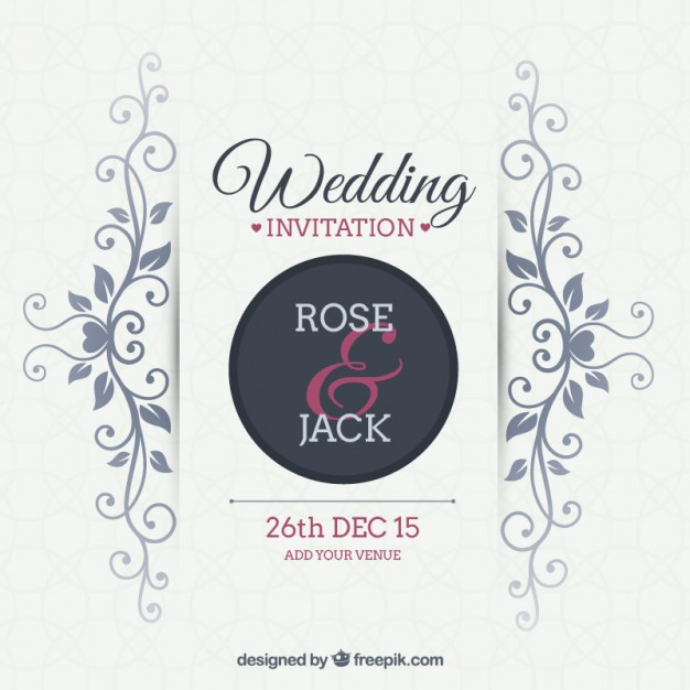 Free Vector Wedding Invitation At Getdrawings Com Free For