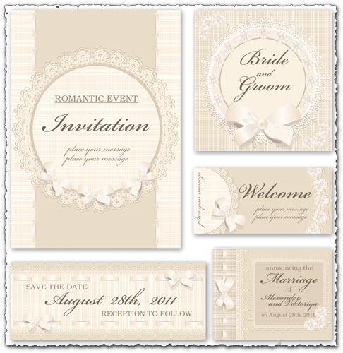 486x500 Classic Wedding Invitation Vectors