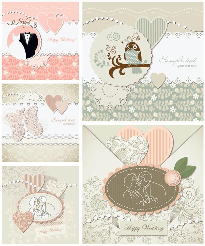 669x800 Decorative Wedding Invitations Vector Vector Graphics Blog
