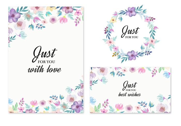 700x490 Free Vector Wedding Invitation With Watercolor Flowers