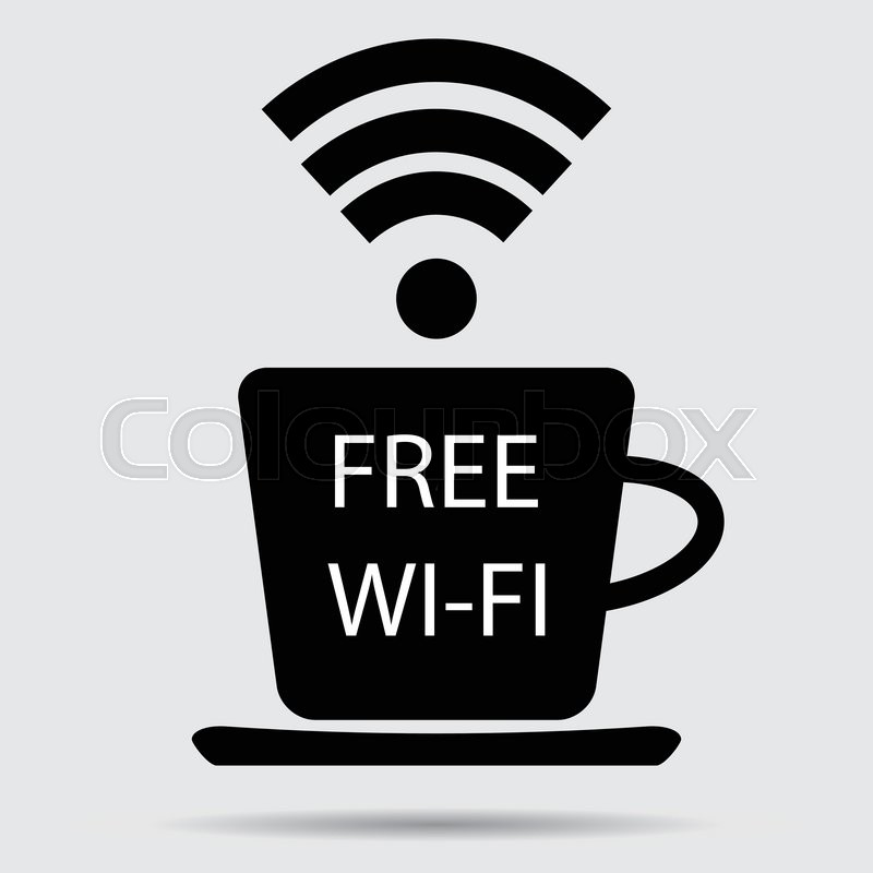 800x800 Free Wifi Vector. Cup Of Coffee And Wifi Icon, Free Internet And