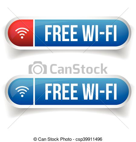 450x470 Vector Wifi Symbol, Free Wifi Button Set.