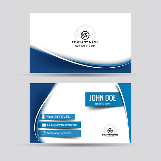 626x626 Business Card Vector Freepik Blue Wavy Free Download Charlesbutler
