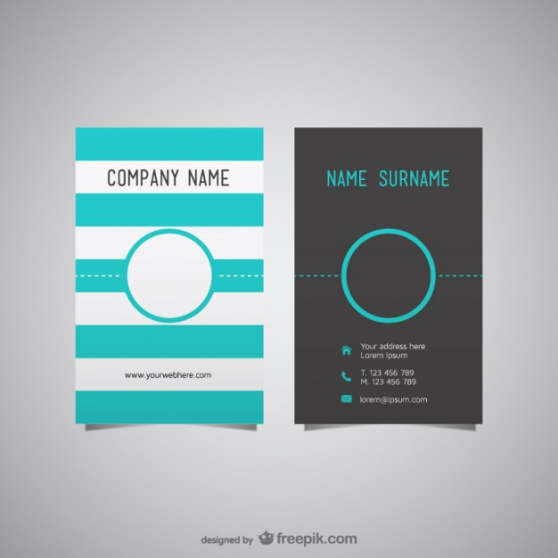 626x626 20 Free Business Card Design Templates From Freepik