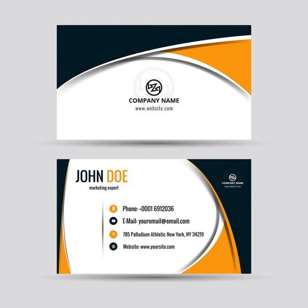 626x626 Business Card Template Freepik Modern Business Card Vector Free
