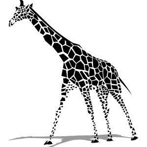 300x300 Giraffe Vector Tattoo Giraffe
