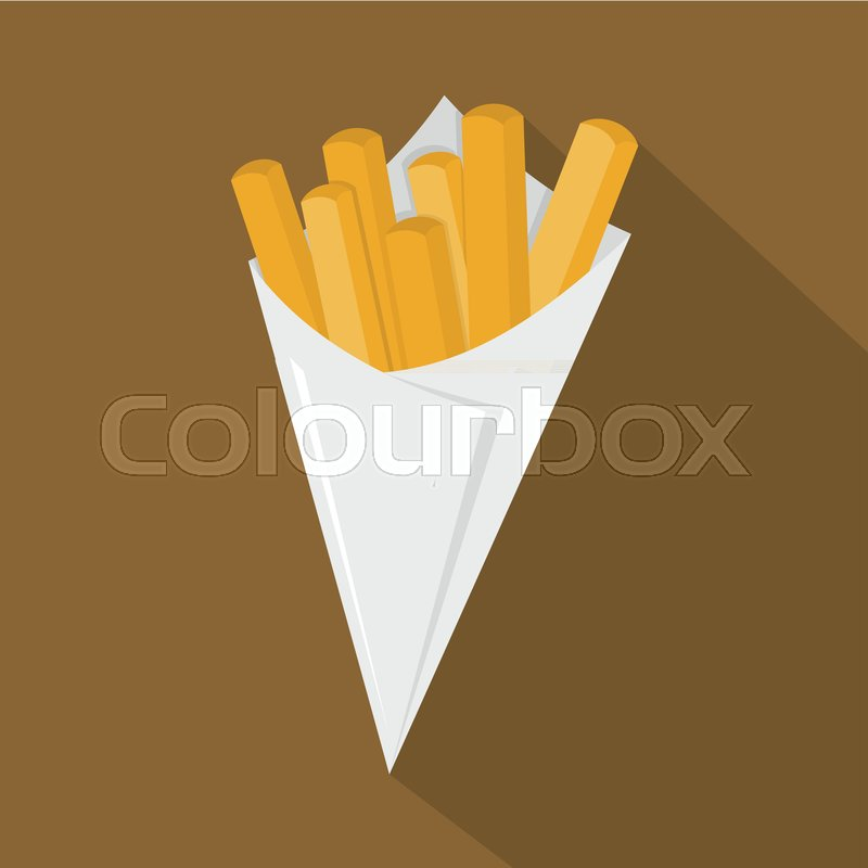 800x800 French Fries Icon. Flat Illustration Of French Fries Vector Icon