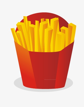 354x451 French Fries Vector Material, French Fries, Fried Food, Cartoon