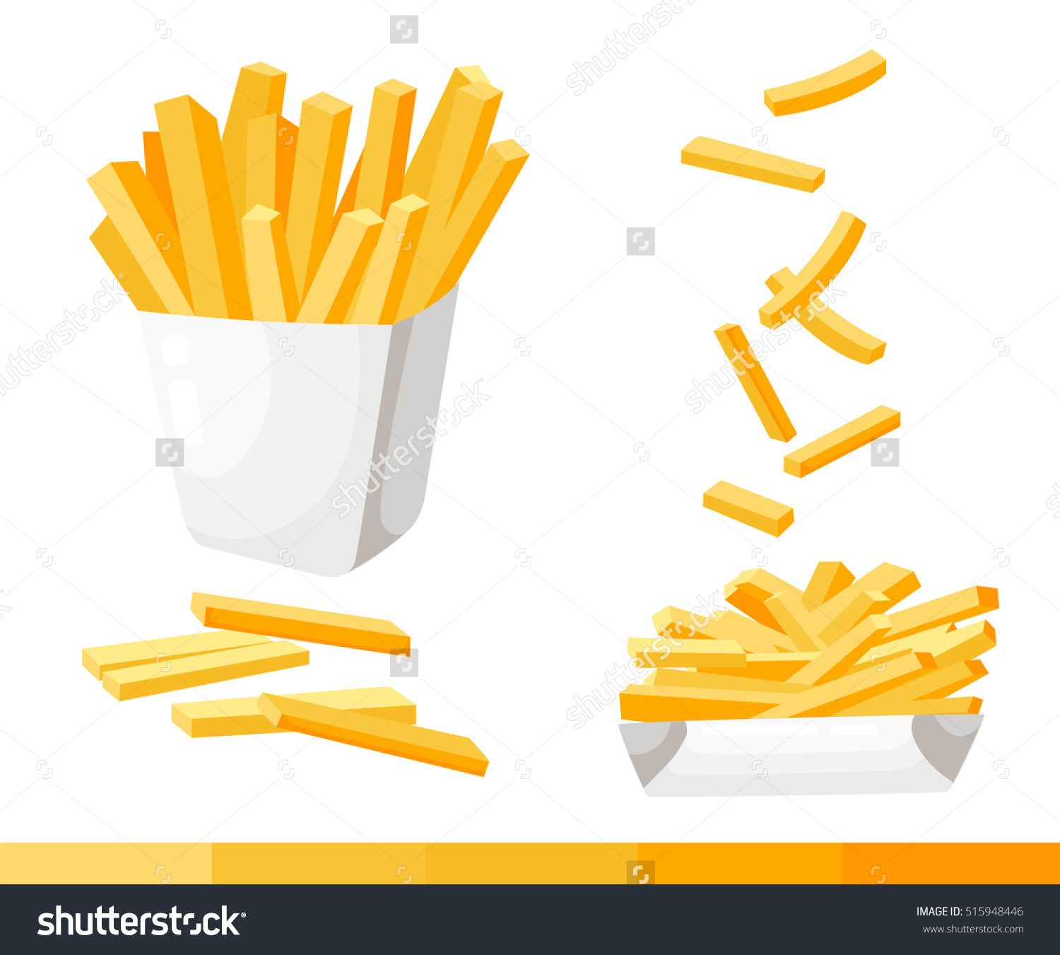 1500x1351 French Fries. Vector Illustration, Flat Design. French Fries In