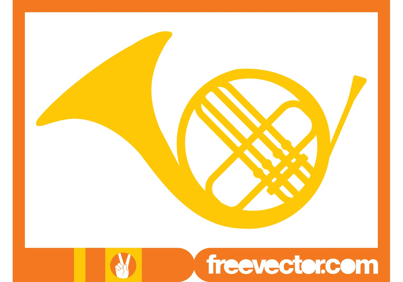 1400x980 French Horn Free Vector Art