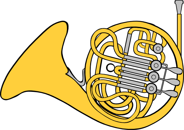 600x426 French Horn Clip Art Free Vector 4vector