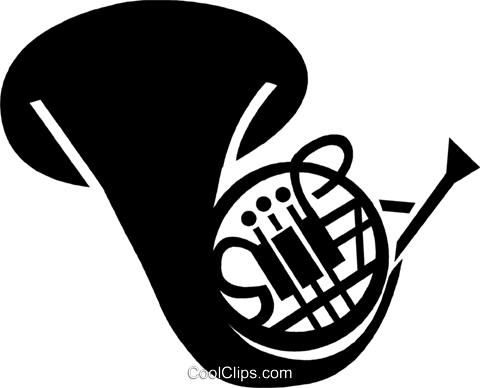 480x388 French Horn Royalty Free Vector Clip Art Illustration Vc028297