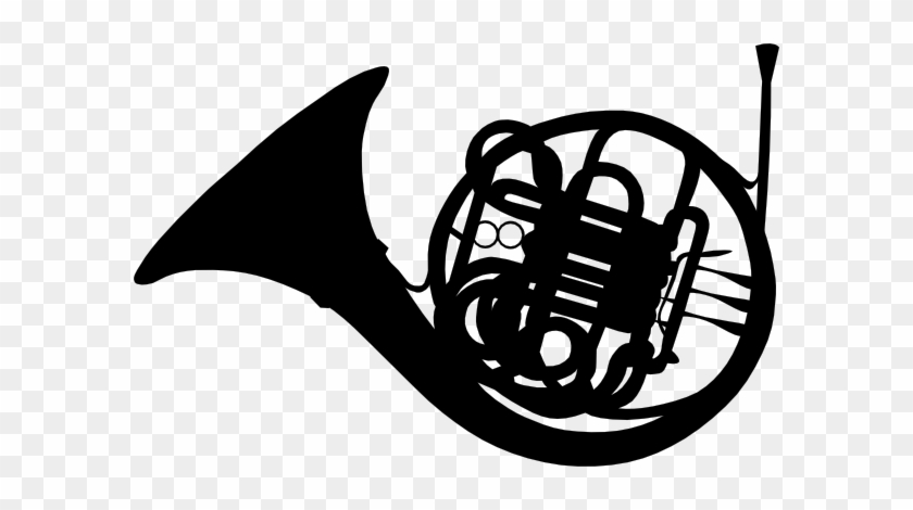 840x470 Free Vector French Horn Silhouette Clip Art